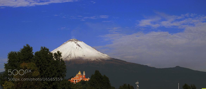 Photograph Snowy Volcano and Church by Cristobal Garciaferro Rubio on 500px