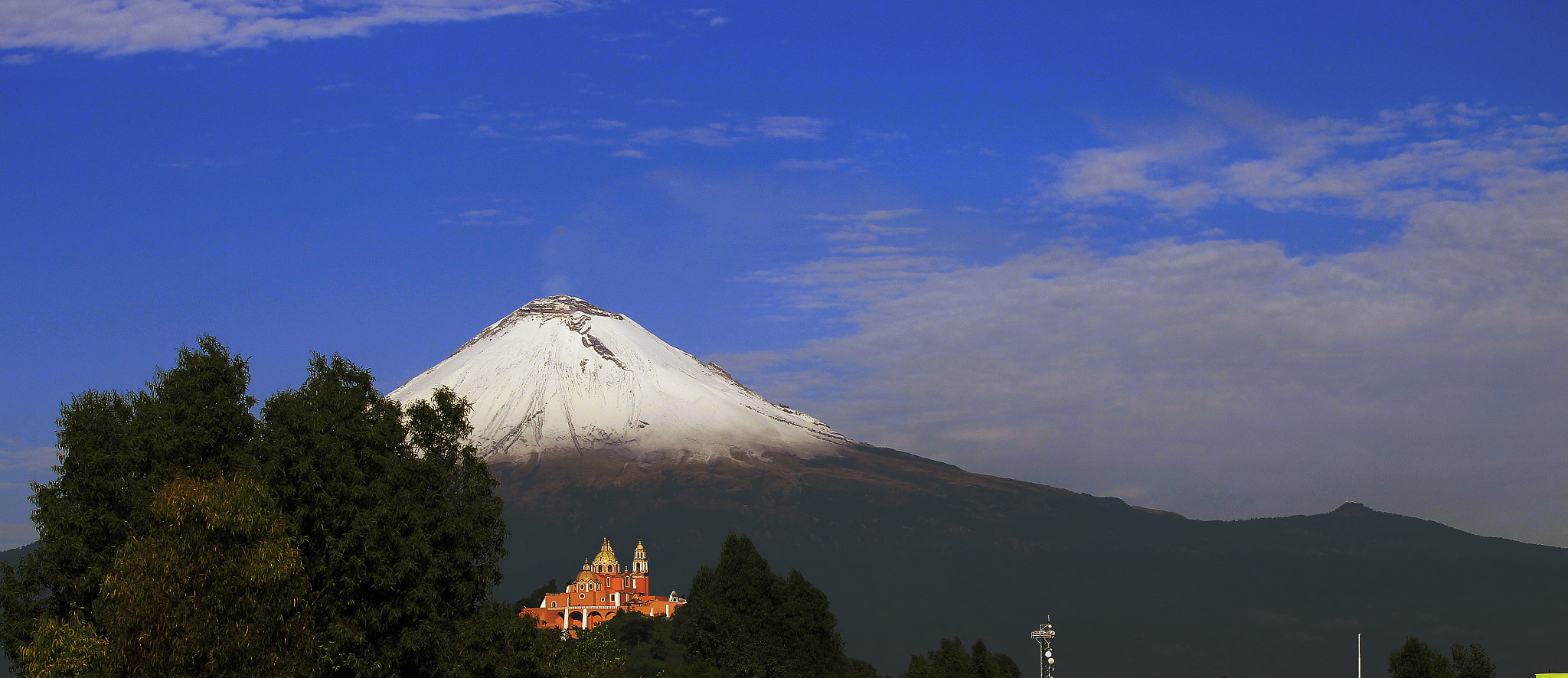 Photograph Snowy Volcano and Church by Cristobal Garciaferro Rubio on 500px