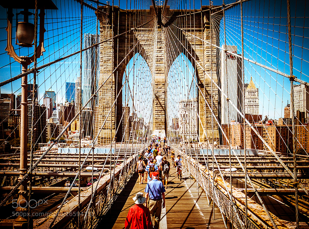 Photograph people trapped in steel cable :-) NY Brooklyn Bridge New York by Dennis Bannert on 500px
