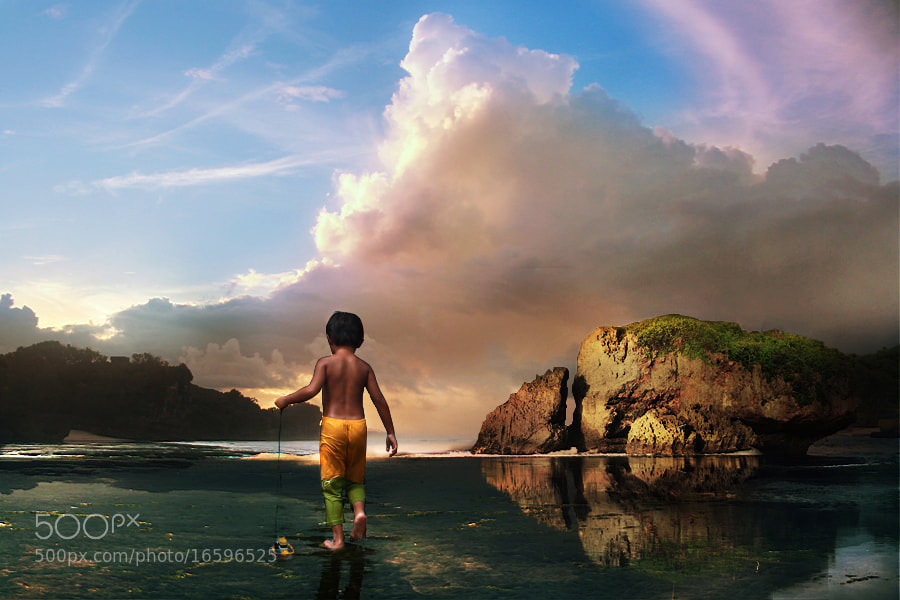 Photograph Galen In Kukup Beach by 3 Joko on 500px