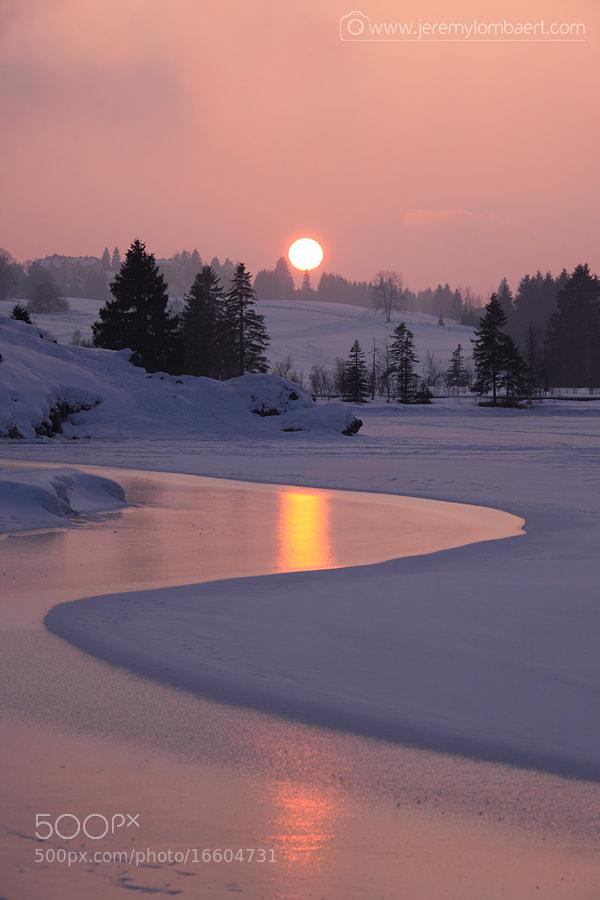 Photograph Frozen sunset by Jérémy Lombaert on 500px