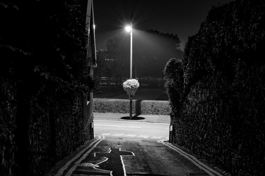 lampost at the end of the alley by Nick Richards on 500px.com