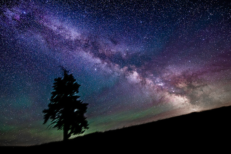 Photograph Palouse Aurora and Milky Way by DD DC on 500px