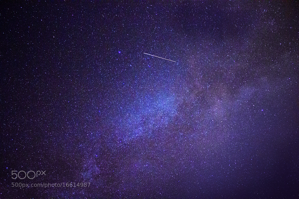 Photograph Milky Way with Shooting Star by Katie Howey  on 500px
