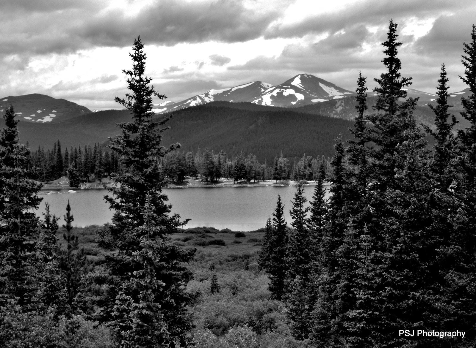 Photograph Echo Lake in B&W by Pam Jones on 500px