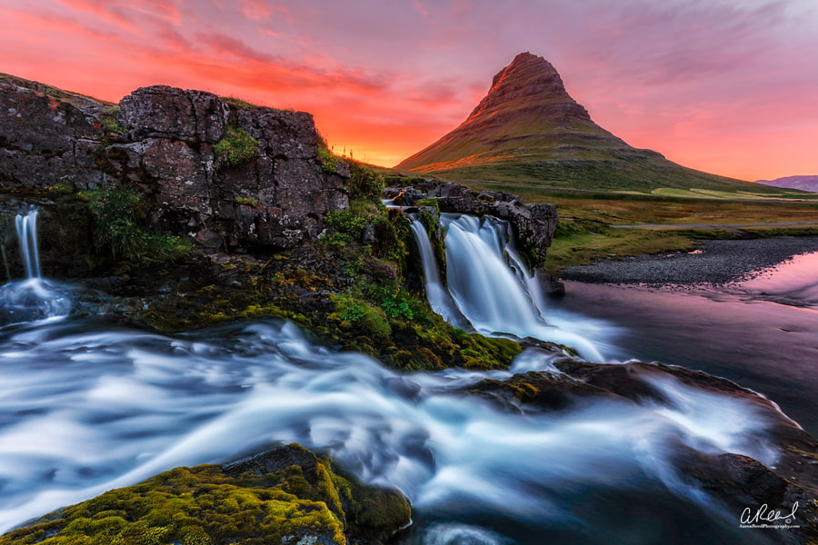 Fire On The Mountain - Kirkjufellsfoss by Aaron Reed on 500px.com