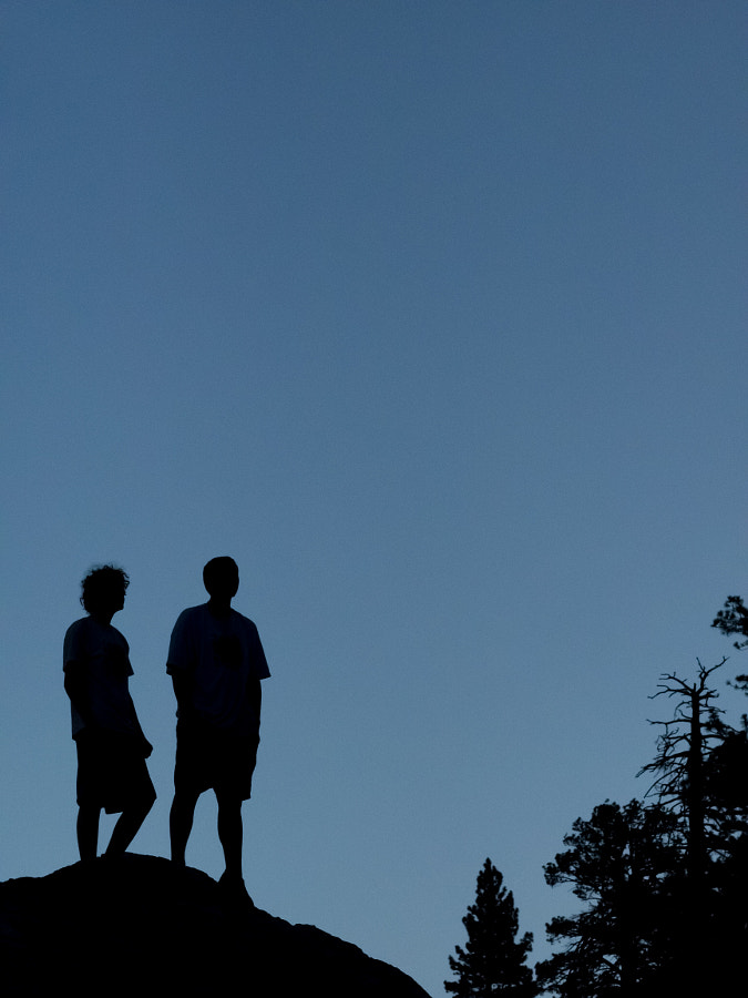 Two Men in the Blue Hour