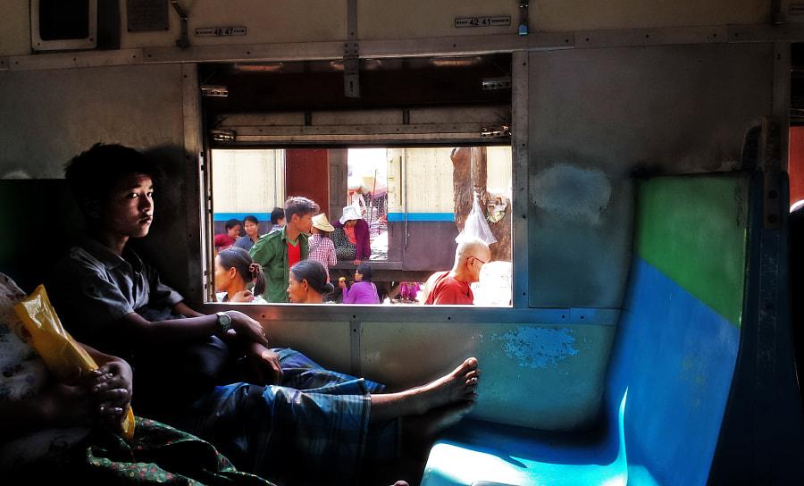 Myanmar - train ride Yangon