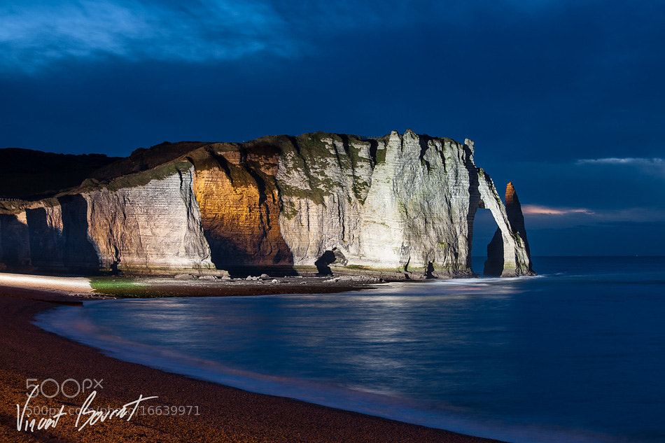 Photograph Etretat by night by Vincent BOURRUT on 500px