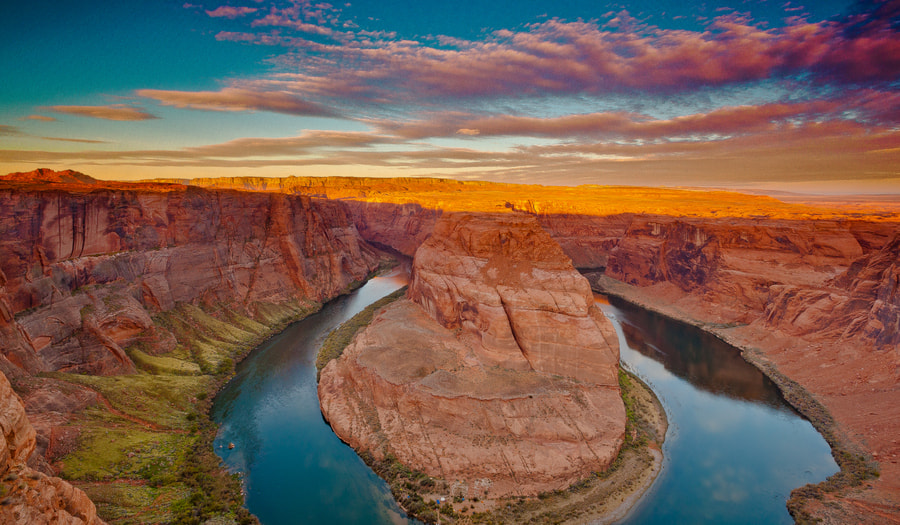 Photograph Horseshoe Canyon Painted With First Light by RobertLBrett on 500px