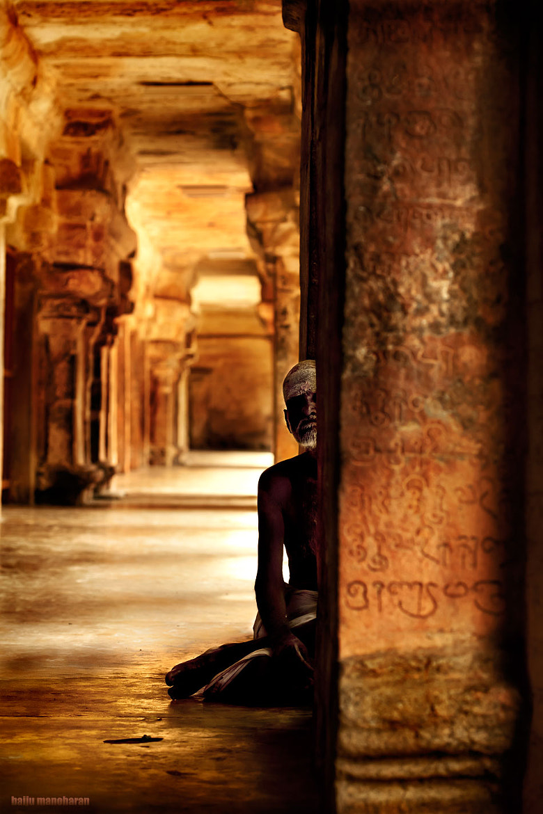 Photograph behind the pillar by Baiju Manoharan on 500px