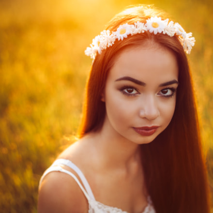 Portrait at sunset (Sara), Canon EOS 5D
