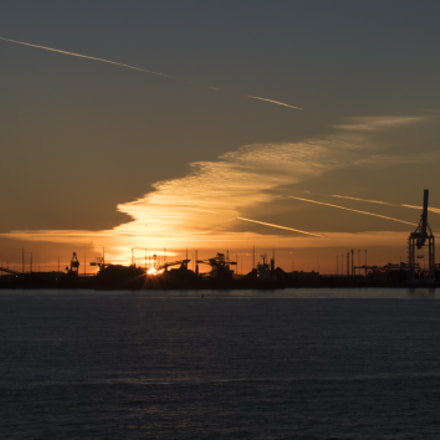Sunset Over Westshore Terminals, Panasonic DMC-GH4