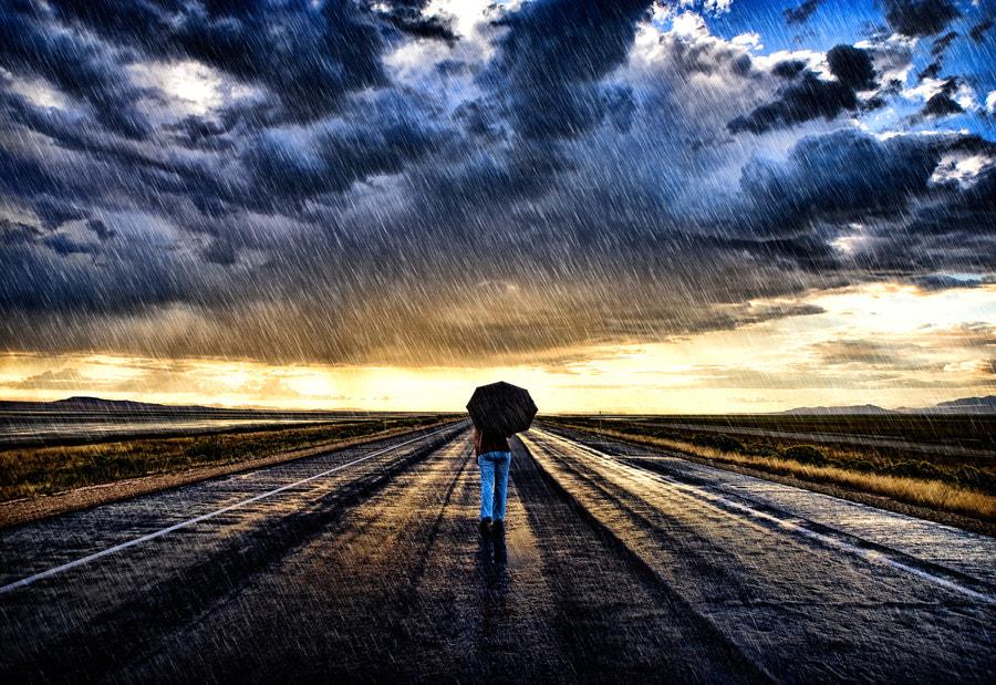 Emily Walking Rain