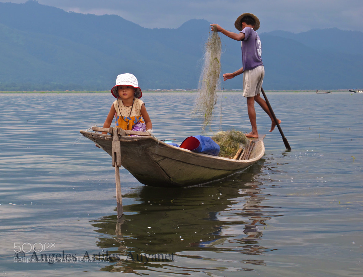 Photograph Fishing with my dad, Inle Lake, Myanmar (Burma) by Ángeles A. Auyanet on 500px