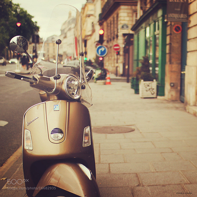 Photograph Vespa in Paris by Nina's clicks on 500px