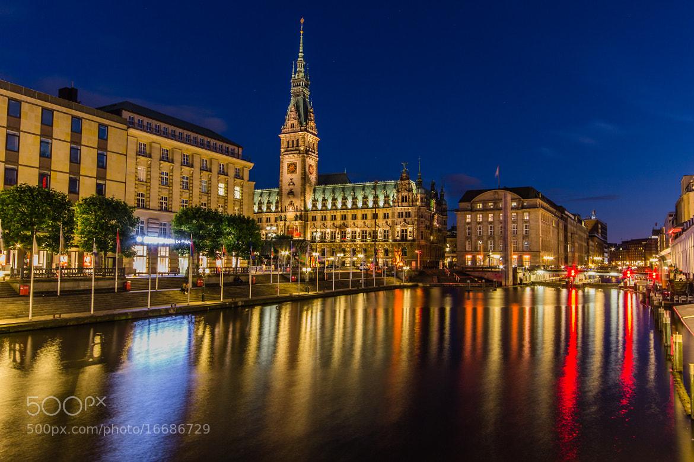 Photograph Hamburg Townhall@night by Merten Hauschildt on 500px