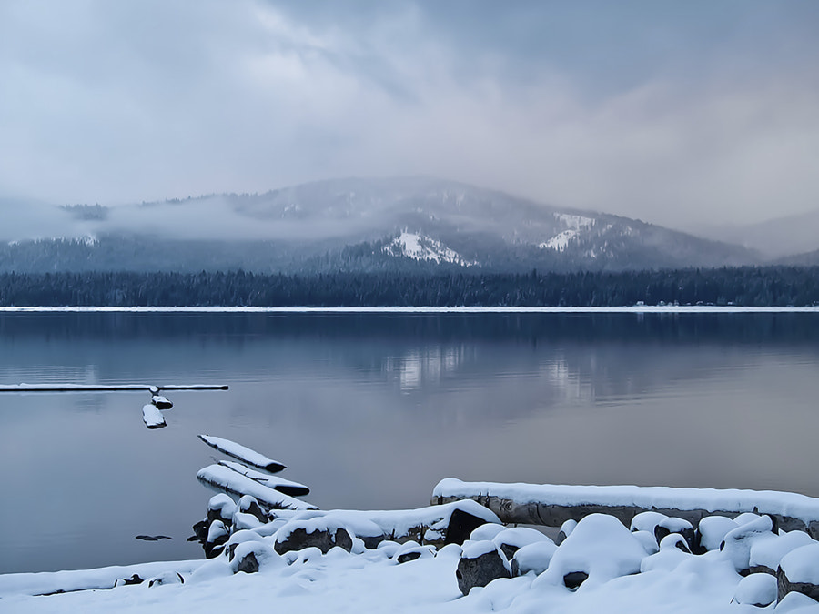 Frosty Morning at Lake Almanor, California