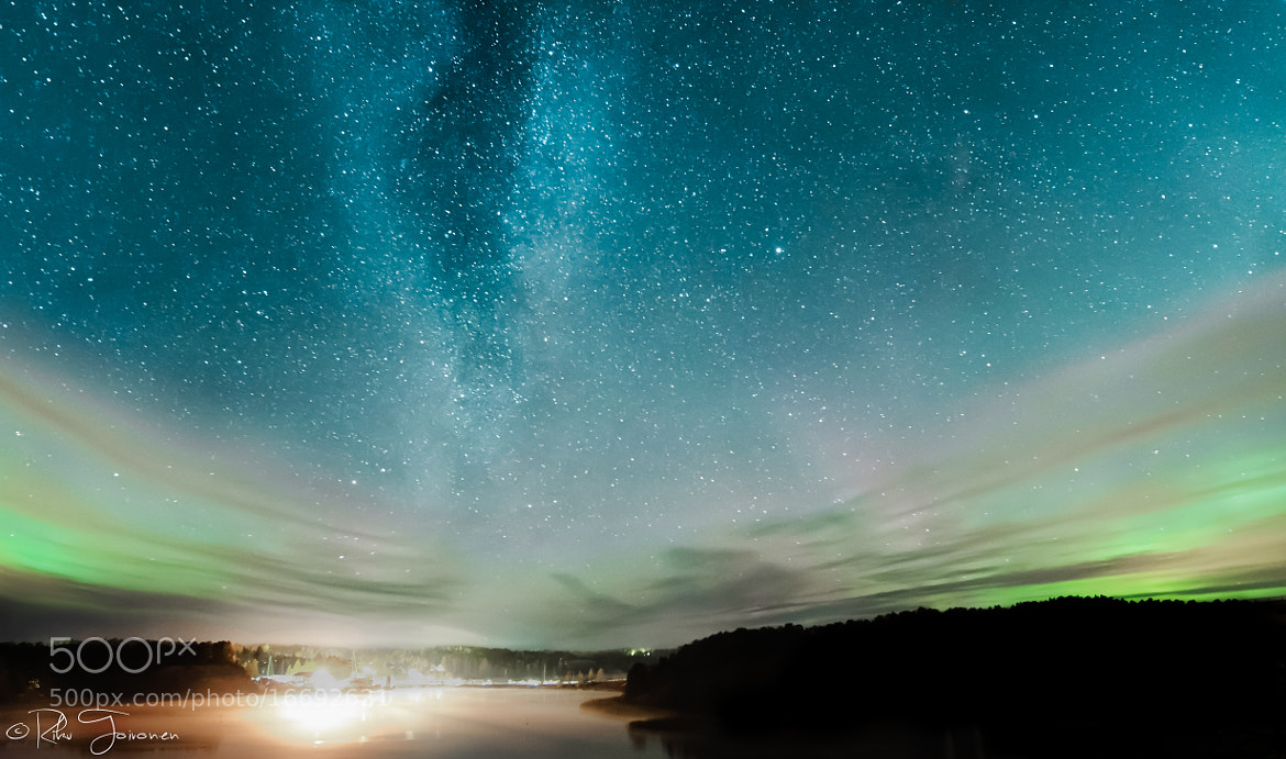 Photograph Milky Way Over Harbour by Riku Toivonen on 500px