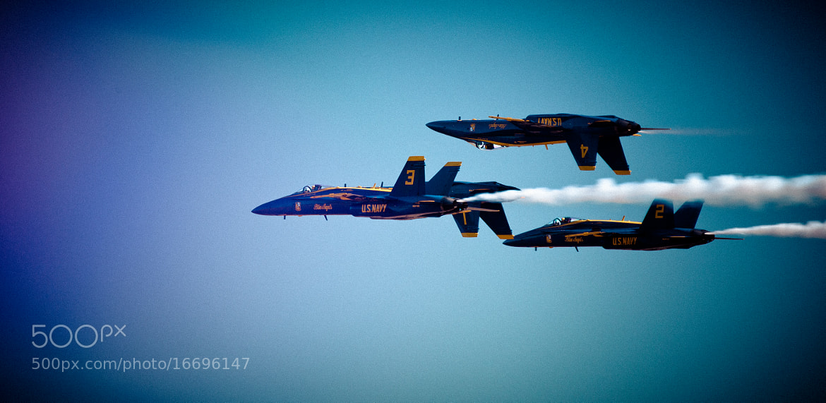 Photograph Blue Angels F/A-18 Hornets at play by RobertLBrett on 500px