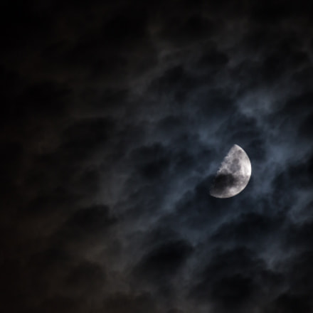 Surreal Cloudy New Moon