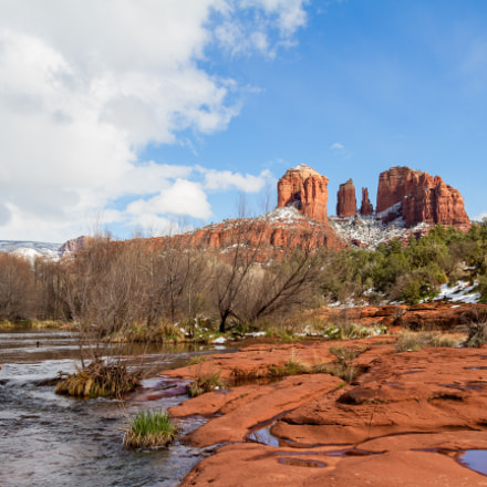 Cathedral Rock in Winter, Canon EOS 7D, Canon EF 20-35mm f/2.8L