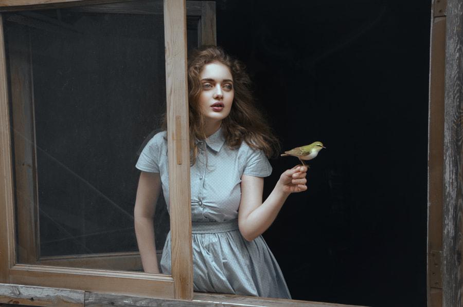 Princess and bird by Natasha Yankelevich