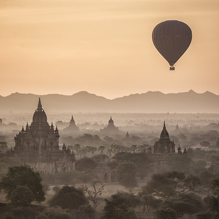 Bagan Morning, RICOH PENTAX 645Z, smc PENTAX-FA 645 150-300mm F5.6 ED [IF]