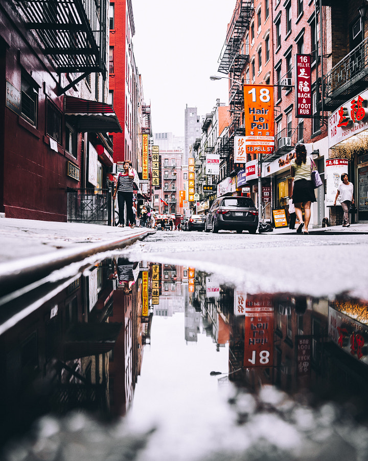 Chinatown Puddles by Ryan Millier on 500px.com