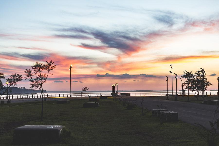 Enjoying the sunset.
