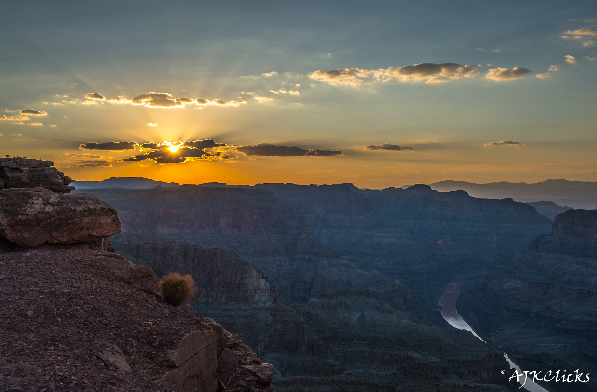 Photograph Wonders of Grand Canyon-Colorado River - Druing Sun Set by AJK Clicks on 500px