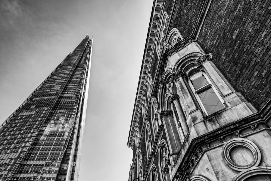 Shard and old building
