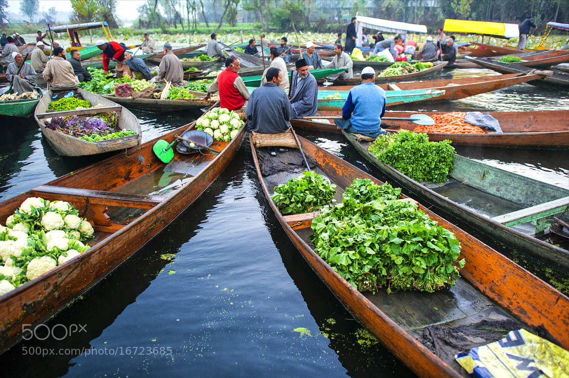 Photograph floating market in srinagar by hamni juni on 500px