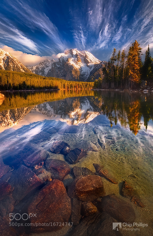 Leigh Lake Reflections by Chip Phillips on 500px.com