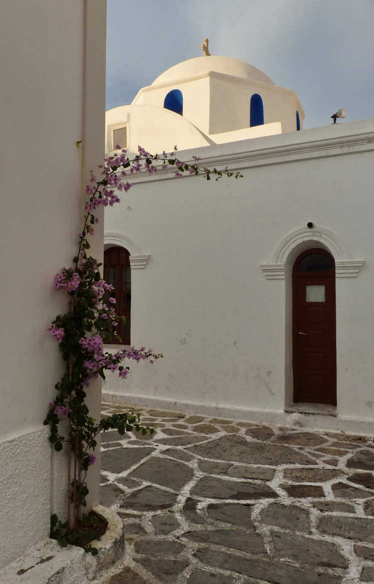 Photograph Cycladic church and flowers by Vicky  Kiriakopoulou on 500px