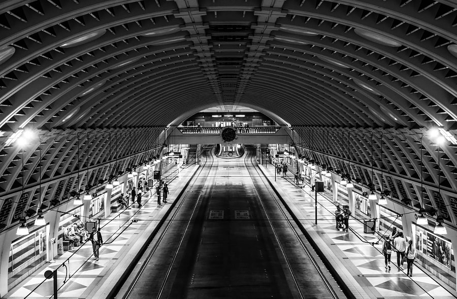 Waiting in the Light of the Underground by Bryan Hughes on 500px.com