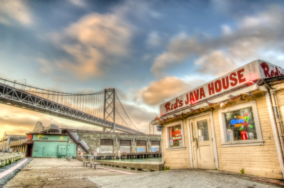 Photograph Red's and the Bay Bridge by Scott Norris on 500px