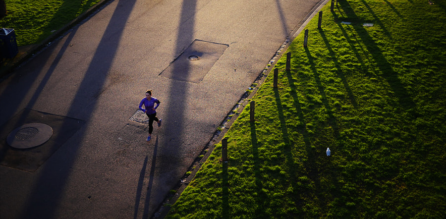 Running through the Shadows by Lucas Pozzey on 500px.com