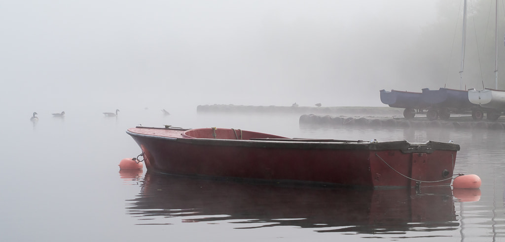 Photograph Dreamy red boat by Richard Wilson on 500px