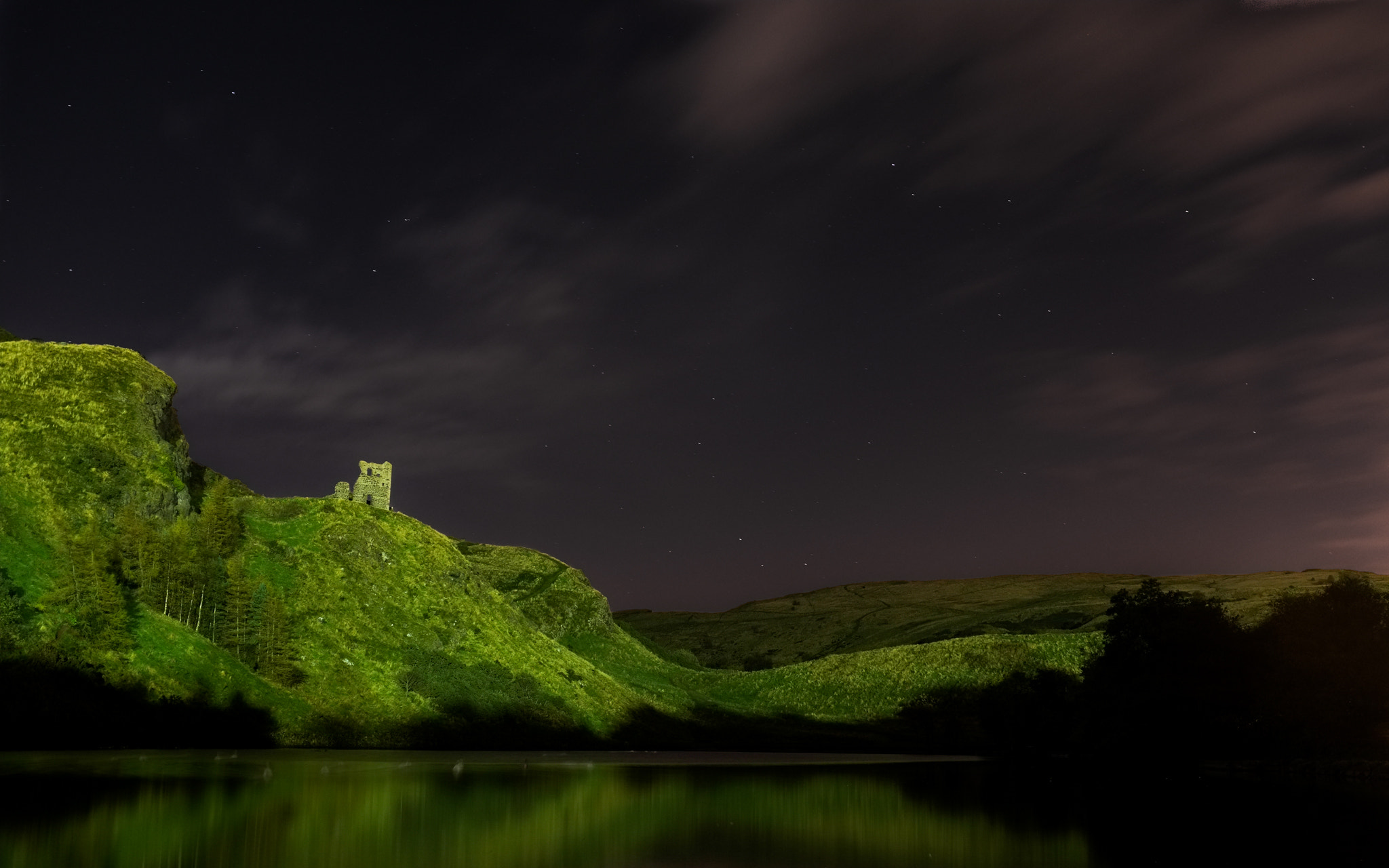 Photograph St. Margaret's Loch at night by S.Chong  Photography on 500px