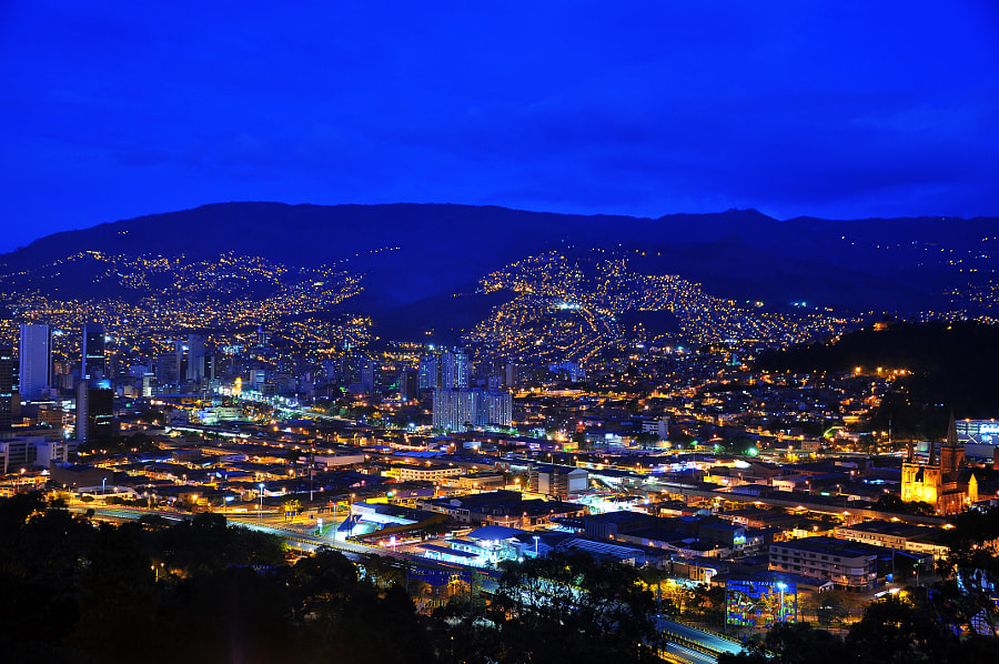 Medellin, Colombia at Night by Jess Kraft on 500px.com