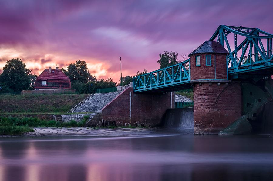 Fiery dawn near Bartoszowice