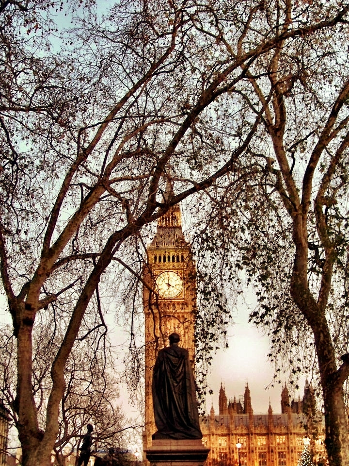 Photograph Big Ben through the Trees by Risa Jenner on 500px
