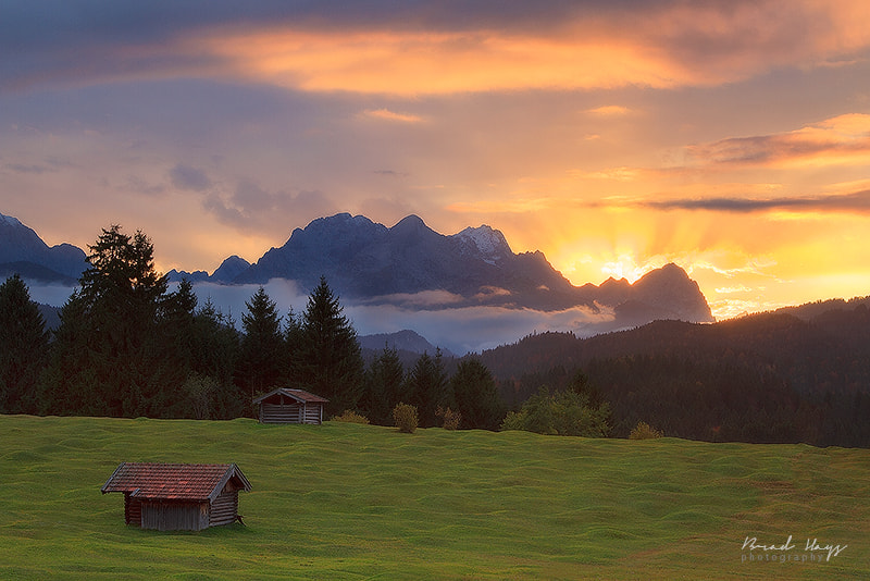 Photograph Sunset over the Werdenfelser by Brad Hays on 500px
