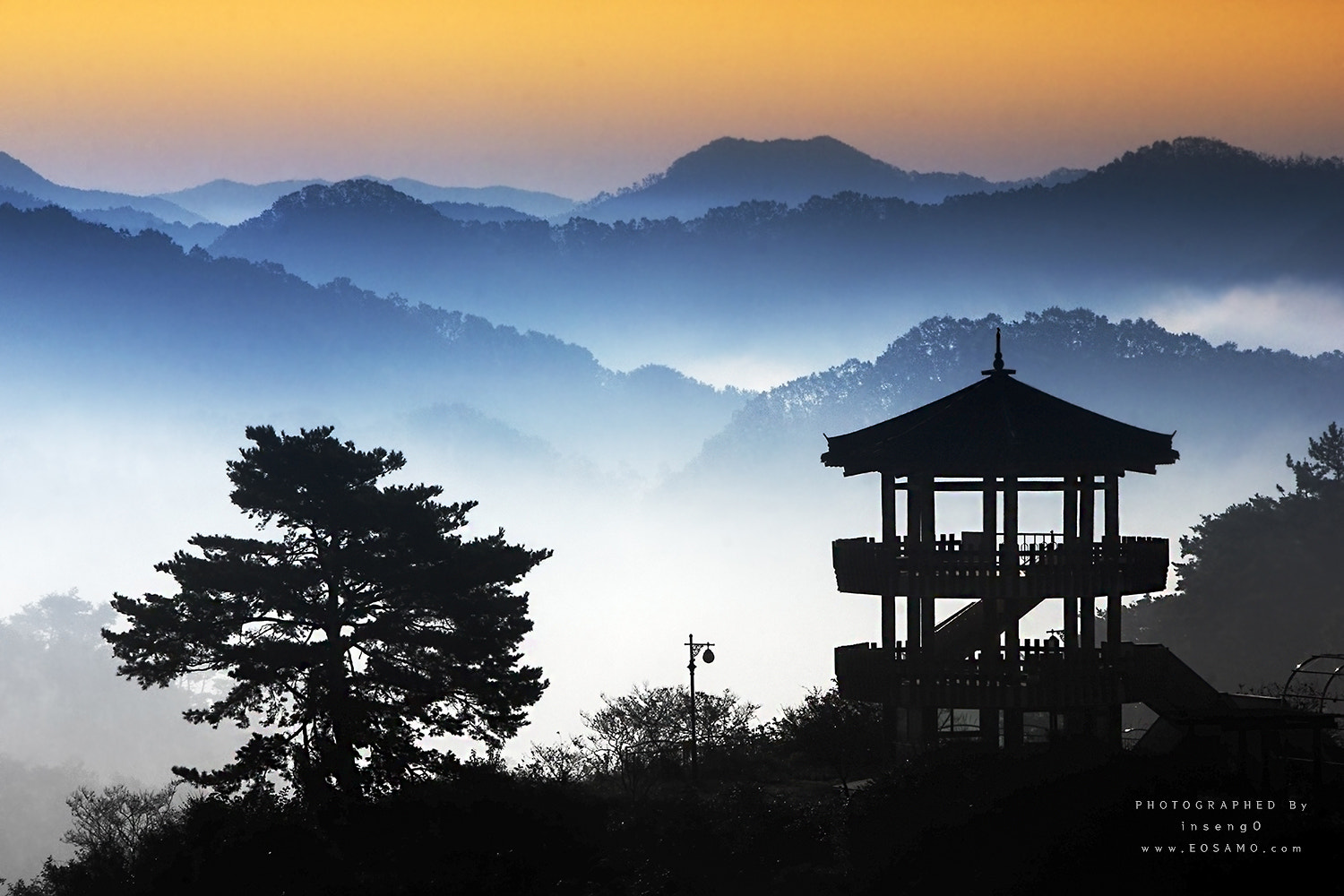 Photograph Morning Calm in octagonal pavilion  by chan-wook Kim on 500px
