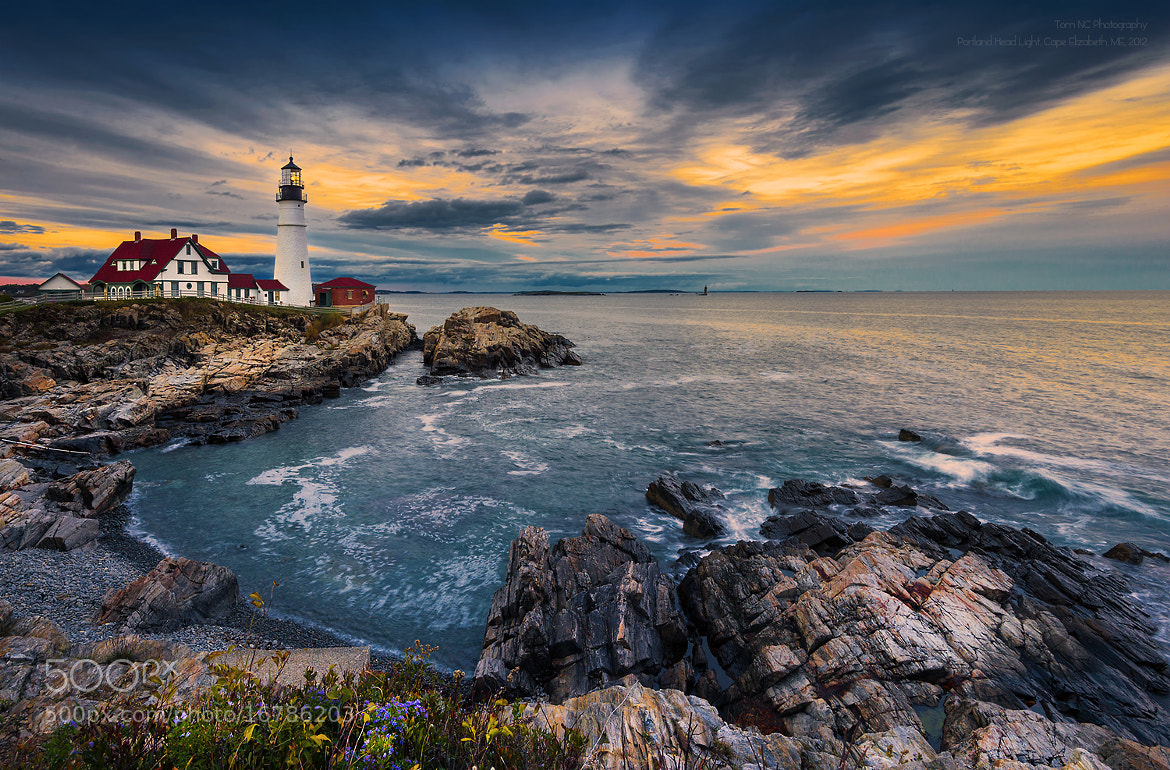"Photograph Sunset at Portland Head Light by Noppawat ""Tom"" Charoensinphon on 500px"