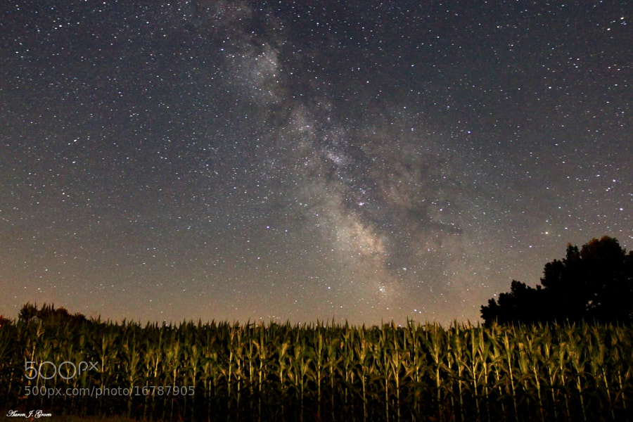 Milky Way over Corn by Aaron J. Groen (AaronGroen)) on 500px.com