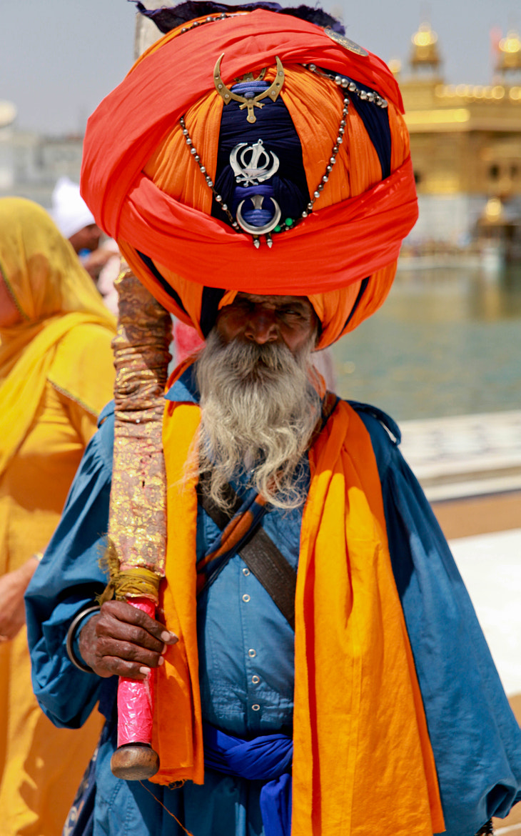 Photograph Guard at the Golden Temple, Amritsar by Craig L on 500px