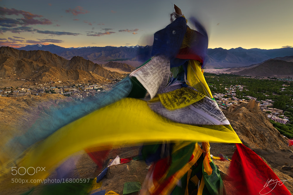 Photograph Prayer flags in the winds over Leh, Ladakh. by Hillary Younger on 500px