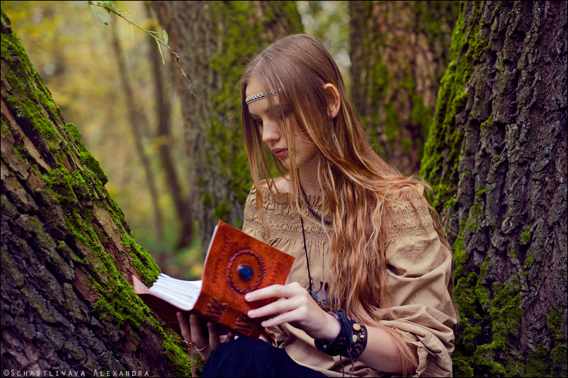 Photograph Reading in the forest by Alexandra Schastlivaya on 500px